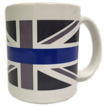 Thin Blue Line Subdued British Flag mug.