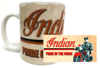 Indian Pride of the Force Motorcycle Police Mug