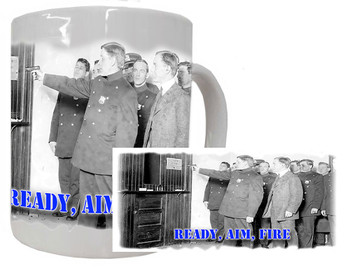 Vintage Ready Aim Fire Police Coffee MUg