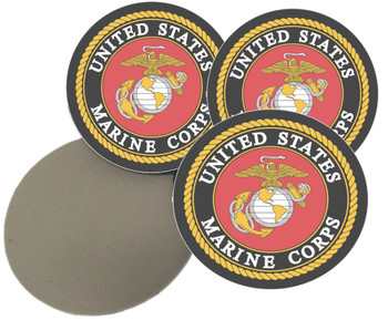 USMC Sandstone Coasters Set of 4