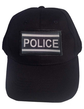 Black Tactical Velcro Cap with Police Patch caf18d36c58