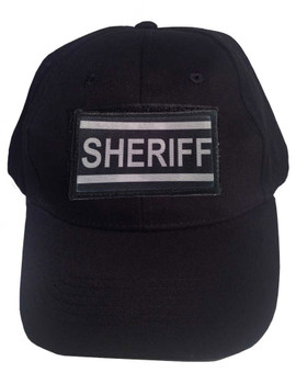 Tactical Velcro Cap Black with Sheriff Patch