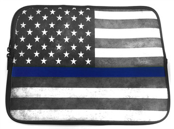 Thin Blue Line American Flag Neoprene Tablet Case