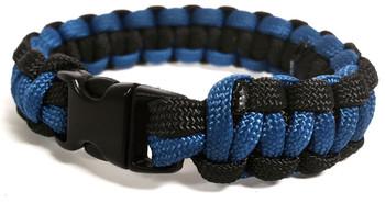 Thin Blue Line Paracord Survival Braclet
