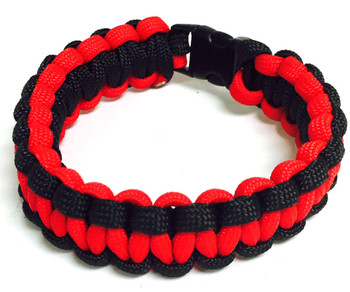 Thin Red Line Paracord Bracelet - Law Enforcement - 4  Piece Package
