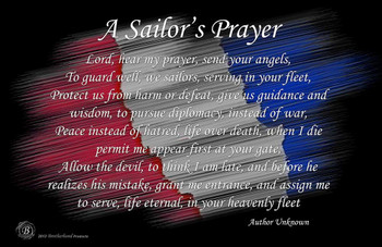 "A Sailor's Prayer Poster - 24"" x 36"""