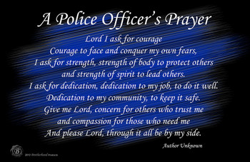 "Police Officer's Prayer Poster - 24"" x 36"""