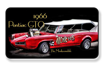 1966 Monkeemobile Pontiac GTO Magnet - Package of 4