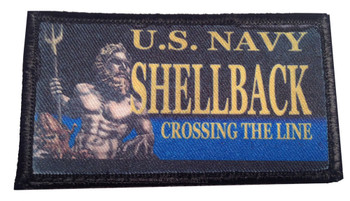U.S. Navy Shellback Crossing The Line Velcro Patch - PACK OF 4