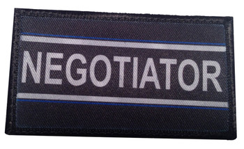 Thin Blue Line Police Negotiator Velcro Patch - Package of 4