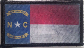 Distressed Colorado Flag Velcro Patch - PACKAGE OF 4