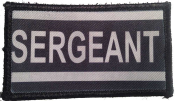 Police Sergeant Velcro Patch - PACKAGE OF 4