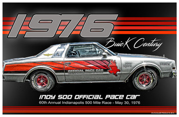 1976 Buick Century Indy 500 Official Pace Car Poster
