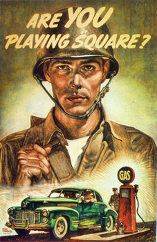 Vintage Are You Playing Squar Military Poster