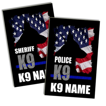 "Personalized Police or Sheriff K9 Poster 11"" x 17"""