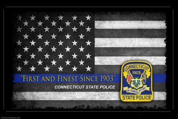 First and Finest Connecticut State Police Poster