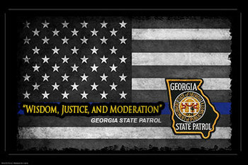 Wisdom, Justice and Moderation Georgia State Patrol Poster