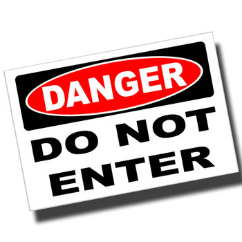 Danger Keep Out 8x12 Metal Sign
