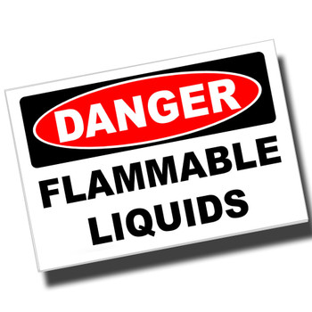 Danger Chemical Storage 8x12 Metal Sign