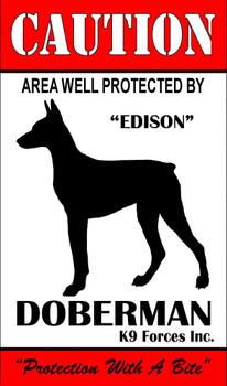 Protected By German Shepherd K9 Forces 8x12 Metal Sign