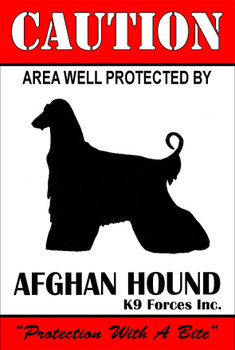 Protected By Afghan Hound K9 Forces 8x12 Metal Sign Personalize
