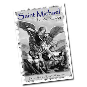 """Saint Michael Patron Saint of Law Enforcement 12"""" x 8"""" Sign"""