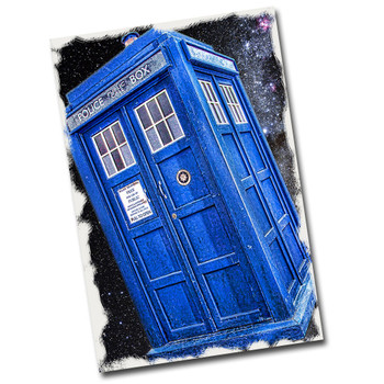 """Doctor Who Police Public Call Box 12"""" x 8"""" Metal Sign"""
