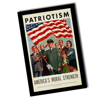 "Vintage Patriotism America's Moral Strength 8"" x 12"" Sign"