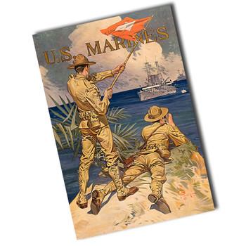 """Vintage U.S. Marines 8"""" x 12"""" Sign"""