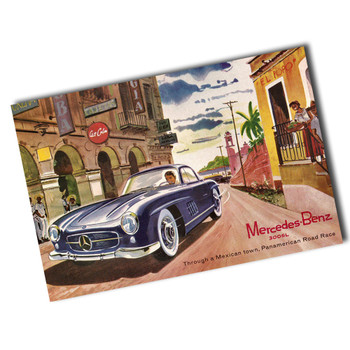 "Vintage Mercedes Benz 8"" x 12"" Sign"