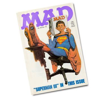 "Vintage Mad Magazine Dec. 83 - 8"" x 12"" Sign"
