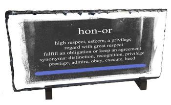 Law Enforcement Definition of HONOR Slate Photo Rock