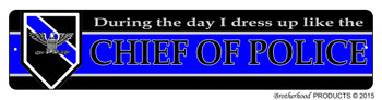 Thin Blue Line Chief of Police Street Sign
