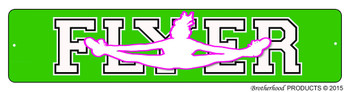Cheerleader Cheer Sport FLYER Street Sign