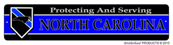 Protecting & Serving North Carolina Street Sign