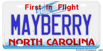 Town Of Mayberry Andy Griffith Show Novelty Aluminum License Plate