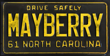 Drive Safely Vintagae Mayberry North Carolina Novelty License Plate