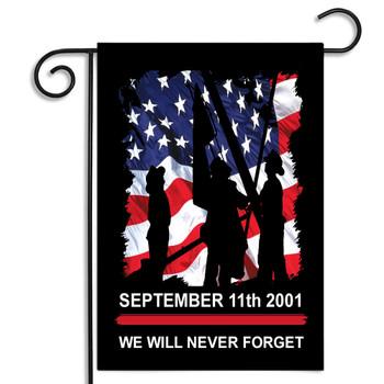 September 11 Firefighter Garden Flag For Firefighters