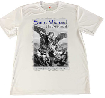 Saint Michael The Archangel Patron Saint of Law Enforcement Rapid Dry T-shirt