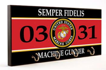 Semper Fidelis 0331 Machine Gunner Key Hanger