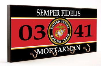 Semper Fidelis Mortarman 0341 Key Hanger