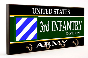 US Army Third Infantry Division Key Hanger
