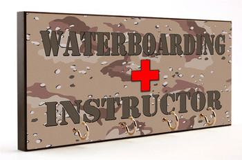 Waterboard Instructor Camo Key Hanger
