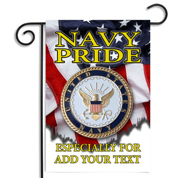 United States Navy Pride Personalized Garden Flag