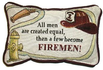 Firemen Woven Pillow