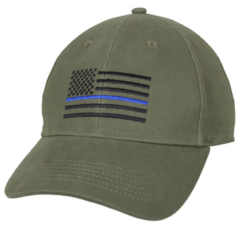 Thin Blue Line Low Profile  OLIVE DRAB Cap