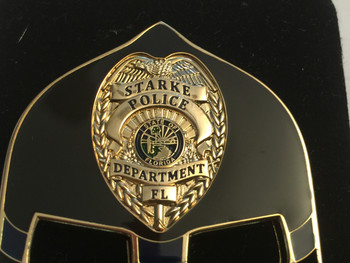 STARKE POLICE FL WARRIOR  BLACK FACE COIN
