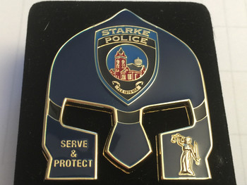STARKE POLICE FL WARRIOR  BLUE FACE COIN