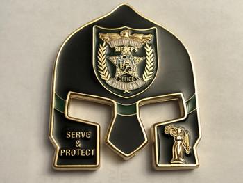 BRADFORD CTY FL SHERIFF WARRIOR COIN BLACK FACE