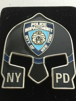 NYPD POLICE  WARRIOR  BLACK FACE COIN